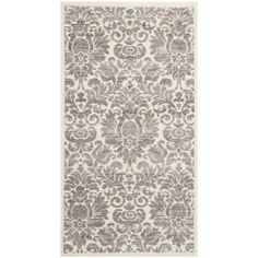 Safavieh Porcello Damask Ivory/ Grey Rug (2'7 x 5') | Overstock.com Shopping - The Best Deals on 3x5 - 4x6 Rugs