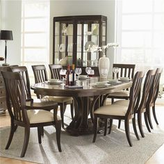 Westwood 9 Piece Formal Dining Set by Bernhardt on display at Darvin Furniture.