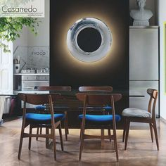 The Lunaire light is a wall and ceiling lamp with a surprising light effect reminiscent of the phenomenon produced by eclipses.  See in-store for more details. 35 Commerce Crescent Kramerville.  www.casarredo.co.za 011 786 6940 #light #luxury #style #furniture #lifestyle #design #elegant #art #contemporary #room #casarredo