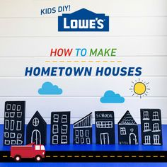 Use craft supplies from around your home to create a fun and interactive DIY hometown houses with your kids.