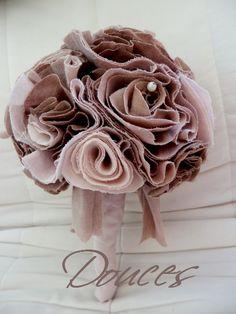 852a820cb4f látková svatební kytice   Zboží prodejce douces