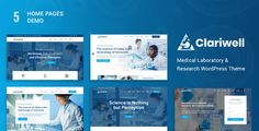 Buy Clariwell – Medical Laboratory & Research WordPress Theme by Insignia_technolabs on ThemeForest. Clariwell is a highly customizable WordPress theme created for all kind of Laboratory, Research and Medical websites. Wordpress Template, Wordpress Theme, Medizinisches Labor, Medical Websites, Medical Laboratory, Medical Research, Best Templates, Website Themes, Website Design Inspiration
