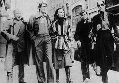 Yves Saint Laurent, Diane von Furstenberg and Bianca Jagger 1970s