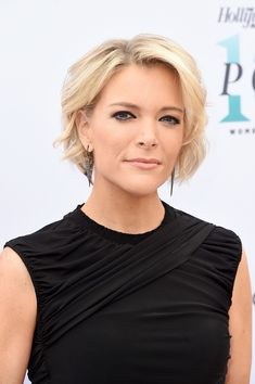 Megyn Kelly Short Wavy Cut - Megyn Kelly looked sweet with her short wavy 'do at the Hollywood Reporter's Women in Entertainment Breakfast.