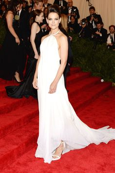 Katie Holmes in Calvin Klein Collection @ The Met Costume Institute Gala in 2013