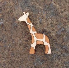 Wood Toy Giraffe Maple  natural wooden toddler by SnapdragonToyCo, $14.00
