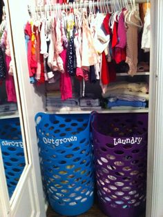Closet and Baby Clothes Organization for Nursery