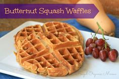 Butternut Squash Waffle Recipe - need to try this, subbing Einkorn flour.