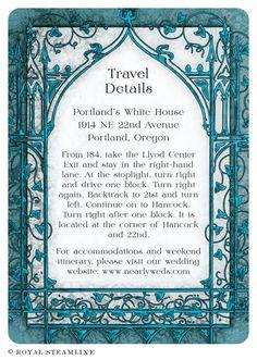 Storybook Wedding Invitation by Royal SteamlineRoyal Steamline