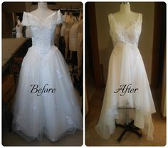 Redesigned Vintage Wedding Dress Beaded Lace Bodice By JazzyDress Some Of The Changes Include Removal Excess Skirt Fabric And Shawl On