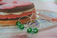 191 zelené kruhy Hoop Earrings, Jewelry, Jewlery, Jewerly, Schmuck, Jewels, Jewelery, Fine Jewelry, Earrings