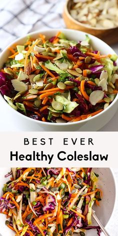 Healthy Coleslaw Recipes, Healthy Mayo, Coleslaw Recipe Dairy Free, Vegan Grill Recipes, Tangy Coleslaw Recipe, Healthy Broccoli Recipes, Healthy Vegetable Side Dishes, Healthy Cooking Recipes, Healthy Vegetarian Dinner Recipes