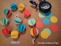 Handbox | Craft Lovers » Comunidad DIY: tutoriales y kits para todosGuirnalda de Bolas de Papel - DIY Paso a paso - Handbox | Craft Lovers
