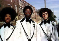 Classic 1970s badass tuxedos.
