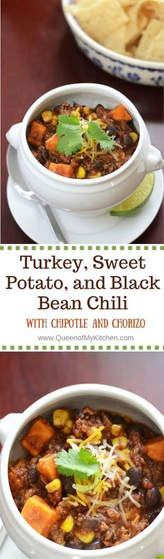 , and Black Bean Chili with Chipotle and Chorizo. Sweet, spicy, smoky ...
