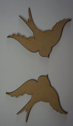 Pair of Swallow birds by LaserWerksandDesigns on Etsy