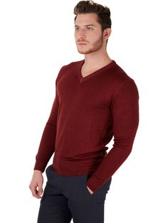 100% merino wool grey sweater for men Made in Italy | Mens ...