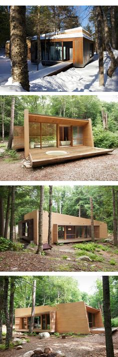 Wood Architecture the luge modus vivendi modus vivendi architecture architecture architects mod . Container Home Designs, Prefab Cabins, Prefabricated Houses, Casas Containers, Weekend House, Wood Architecture, Forest House, Tiny House Plans, Modular Homes