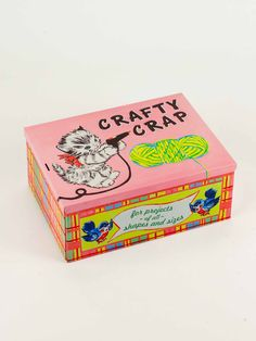 Perfect tin storage box for all your crafty crap. Have you ever wanted a high-quality, vintage-inspired, generously-sized tin box decorated with a cat holding a Cigar Boxes, Tin Boxes, Diy Arts And Crafts, Diy Crafts, Beer Crafts, Lucky Day, Illustrations, Decoration, Toy Chest