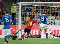 Spain 4 Italy 0 in 2012 in Kiev. Juan Mata just had time to score a 4th goal on 88 minutes in the Euro 2012 Final. 4-0 Spain.