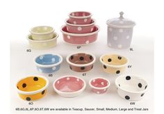Ceramic Gumball Dog Bowls made by Petware Pottery.