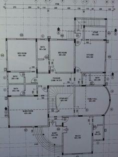 Duplex Floor Plans, Bungalow Floor Plans, Small House Floor Plans, Simple House Plans, Beautiful House Plans, Family House Plans, House Plans Mansion, Architectural Floor Plans, House Construction Plan