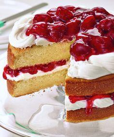 Sunshine Strawberry French Vanilla Cake - http://stlcooks.com/2014/06/sunshine-strawberry-french-vanilla-cake/