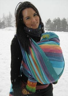 Double Rainbow Blue. Girasol woven wrap. - OK this is the one I want, definitely replaced ER as my fave!