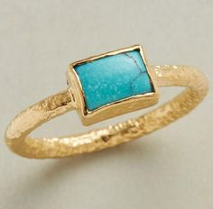 Crinkled Turquoise Ring
