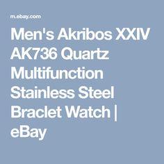 Men's Akribos XXIV AK736 Quartz Multifunction Stainless Steel Braclet Watch | eBay