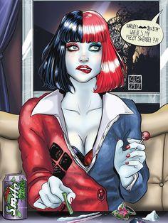Harley Quinn, the queen of crime. Harley Quinn Et Le Joker, Harley Quinn Drawing, Harley Quinn Cosplay, Catwoman, Batgirl, Supergirl Superman, Arlequina Margot Robbie, Harey Quinn, Arte Dc Comics