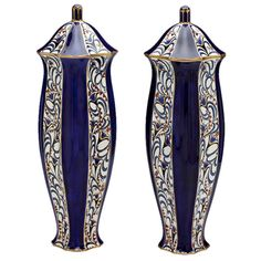 Pair of Vases by Ernst Wahliss | From a unique collection of antique and modern vases at http://www.1stdibs.com/furniture/dining-entertaining/vases/