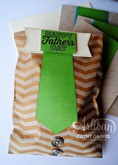 What adorable gift packaging made with the Hey Man kit from May.