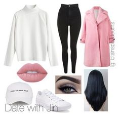 """""""Bts Inspired outfits"""" by jungkookwifeuoml on Polyvore featuring Olympia Le-Tan, Topshop, Lime Crime, Natasha Zinko and Converse"""