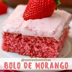 """430 curtidas, 25 comentários - Débora Lopes (@nutrindoreceitas) no Instagram: """"BOLO DE MORANGO LOW CARB  Ingredientes  1 pacote de gelatina diet de morango em pó (na receita use…"""""""