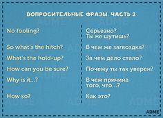 Вопросительные фразы, часть 2   Question phrases, part 2