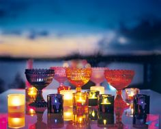 iittala Maribowls and kivi candle holders