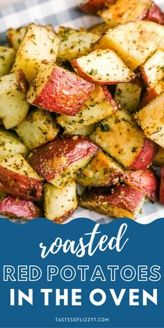 Roasted red potatoes are a delicious side dish that pairs perfectly with just about everything. This recipe for crispy roasted potatoes is incredibly easy to make. As a result, you can serve them for any meal of the day! Red Potato Recipes, Roasted Potato Recipes, Oven Roasted Red Potatoes, Stitch Patterns, Side Dishes, Dinner Recipes, Pairs, Meals, Vegetables