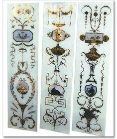 Verre Eglomisé Neoclassical Panels