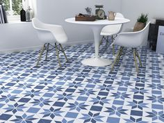 Blue kitchen. Nice patern and touch. www.novambient.ro