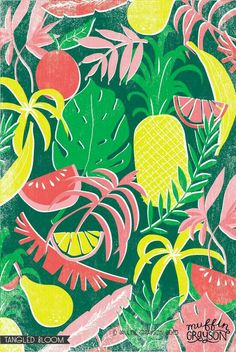 Let this beautiful tropical summer design adorn your home. Tropical Design, Tropical Pattern, Tropical Vibes, Tropical Decor, Tropical Prints, Summer Design, Motif Floral, Pretty Patterns, Kids Prints