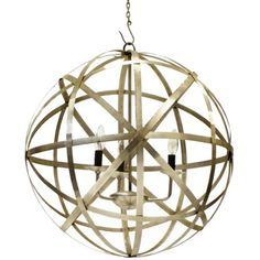 """Planetary Chandelier by Restoration Warehouse - """"Hip Vintage"""" - Materials: Iron / Finish: Polished Nickel"""