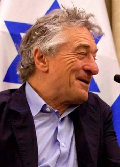 """Hollywood actor Robert de Niro says: """"Israel is fighting for its right to exist as a people and as a Jewish nation against a terrorist group armed with hate that pose a threat to the entire world."""" 