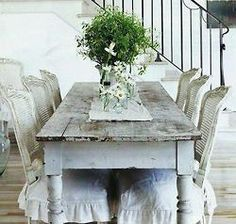 Discreet cataloged shabby chic dining room decor learn this here now Shabby French Chic, Style Shabby Chic, Shabby Chic Homes, Shabby Chic Decor, Rustic French, French Farmhouse, Country Farmhouse, Farmhouse Chic, Country Kitchen