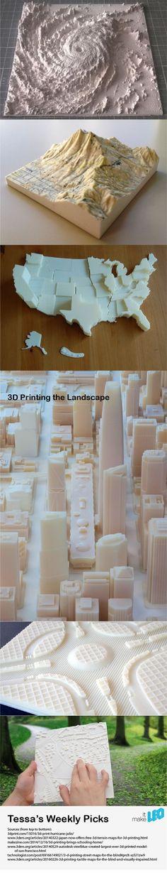Tessa's Picks - 3D Printing the Landscape - Make it LEO