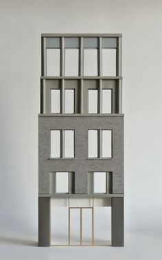 Facade model of 1519 Redchurch & Whitby by Architects Brick Architecture, Minimalist Architecture, Interior Architecture, Interior Design, Facade Design, House Design, Facade Pattern, 3d Modelle, Arch Model