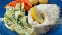Kokt skrei med fennikel- stuing og gulrerøtter - Oppskriftskroken