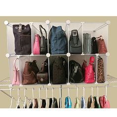 Luxury Living 10 Cubby Adjustable Park A Purse Organizer   7306454 | HSN