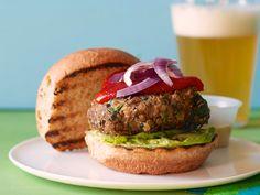 Vegan Lentil Burgers recipe from Food Network Kitchen. Used cups of cooked lentils. Vegan Lentil Burger, Lentil Burgers, Vegan Burgers, Turkey Burgers, Lentil Recipes, Vegetarian Recipes, Cooking Recipes, Burger Recipes, Chickpea Recipes