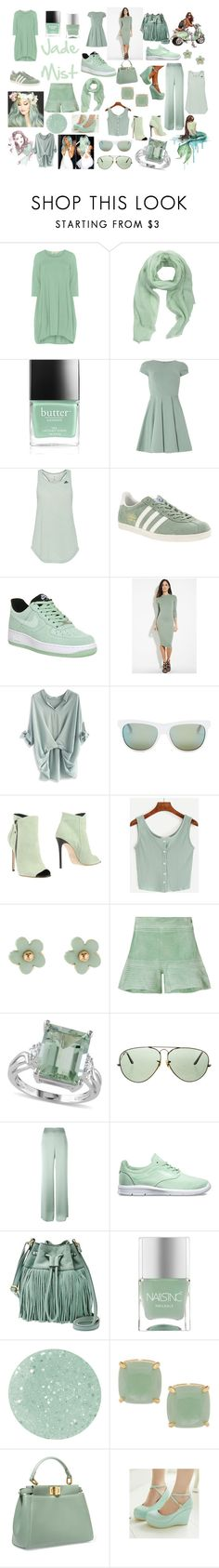 """""""Jade Mist"""" by maiaytina on Polyvore featuring Isolde Roth, MANGO, Butter London, Closet, adidas, NIKE, Forever 21, Chicwish, Diesel y Grey Mer"""